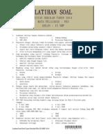 Latihan Soal Ujian Sekolah PKn Kelas IX Tahun 2014