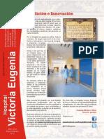 Hospital Victoria Eugenia. Boletin Informativo. Tradicion e Innovacion.
