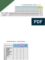 Attendance Sheet - Contract Labour