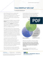 Cut your annual Cisco SMARTnet® bill in half