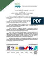 TAPP Forum 2014- Speech_JFC Pres._CanCham Julian Payne_Intro. to CJ Sereno