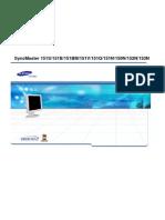 Samsung Syncmaster 151s, 151b, 151bm, 151v, 151q, 151n ,150n, 152n, 153n service manual