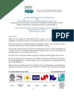 TAPP Forum 2014- Speech_World Bank Lead Economist Dr. Rogier Van Den Brink