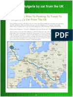Travel to Bulgaria by Car From the UK