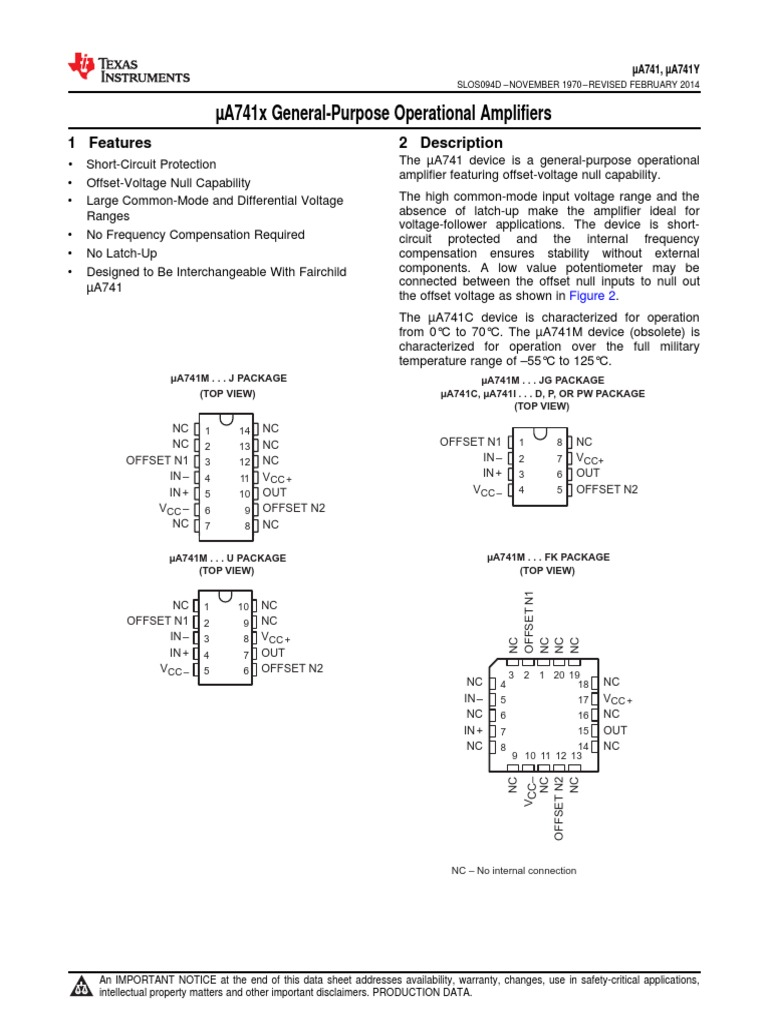 Ua741 Amplifier Operational 741 Opamp Voltage Circuit Eee Community