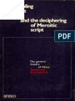 Peopling of Ancient Egypt and the Deciphering of Meroitic Script, Proceedings of the Symposium Held in Cairo, 1974, Diop, Unesco