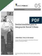 Institucionalidad Para La Int Urb