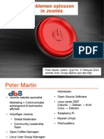 Problemen oplossen in Joomla - Joomla User Group Alphen aan den Rijn 2014