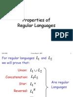 Regular Properties