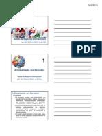 Aula 1 - Globalização dos Mercados [Modo de Compatibilidade]