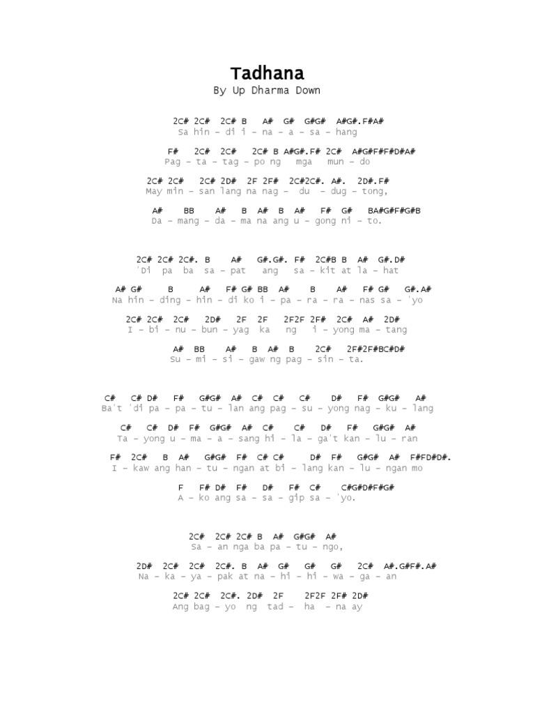 Tadhana Chords And Lyrics Without Capo Gauranimightywindfo
