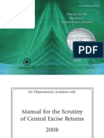 Manual for Scrutiny of Central Excise Returns