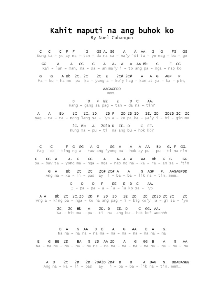 Guitar chords of kahit maputi na ang buhok ko gallery guitar lyrics with flute notes ewan by apo hiking society lyrics with flute notes kahit maputi na hexwebz Gallery