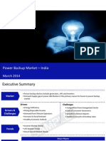Power Backup Market in India 2014 - Sample