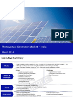 Photovoltaic Generator Market in India 2014 - Sample