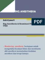 Monitoring AnesthesiaMonitoring Anesthesia