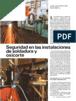 Seguridad Instalac Soldadura y Oxicorte Mapfre 1986