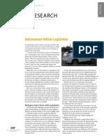 Autonomous Vehicle Legislation