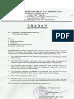 Surat Edaran Dekan Fakultas Teknik Unsyiah