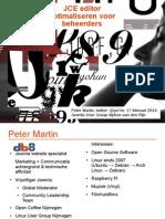 Joomla JCE editor optimaliseren voor beheerders - Joomla User Group Alphen aan den Rijn 2014