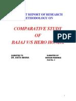 6521964 Summer Training Report on Bajaj vs Hero Honda