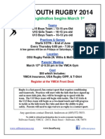 YMCA Rugby Flyer