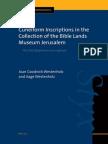 Joan Goodnick Westenholz, Aage Westenholz-Cuneiform Inscriptions in the Collection of the Bible Lands Museum Jerusalem_ the Old Babylonian Inscriptions (Cuneiform Monographs)