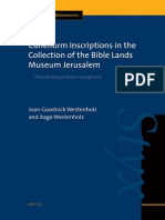 Joan Goodnick Westenholz, Aage Westenholz-Cuneiform Inscriptions in the Collection of the Bible Lands Museum Jerusalem_ the Old Babylonian Inscriptions (Cuneiform Monographs)