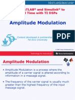 Amplitude Modulation Using Matlab