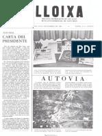 LLOIXA. Número 42, diciembre/desembre 1984. Butlletí informatiu de Sant Joan. Boletín informativo de Sant Joan. Autor