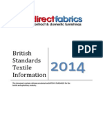 British Standards Information Effecting Textiles. Information on flame retardant standards for UK Businesses. Covering Curtains, Blinds, Bedding and more