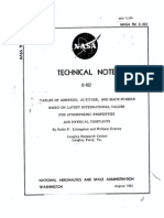 NASA Technical Note D-822 - Tables of Airspeed Altitude and Mach Number
