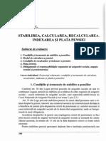 11. Stabilirea, Calcularea, Recalcurea, Indexarea Si Plata Pensiei