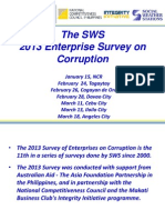 2013 SWS Enterprise Survey on Corruption
