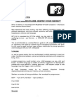 MTV Compliance Guidelines 2011