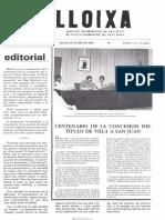 LLOIXA. Número 48, junio/juny 1985. Butlletí informatiu de Sant Joan. Boletín informativo de Sant Joan. Autor