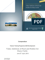Value Addition of Feed and Fodder for Dairy Cattle