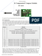 CMPS10 I2C Documentation