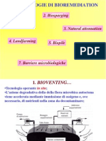 (8-9)Tecnologie biologiche di bioremediation