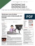 Mexicano crea el robot pianista más evolucionado del mundo - Grupo Milenio