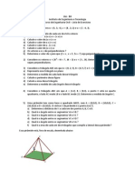 Lista de Exercícios sobre Vetores (GAAL - 05)