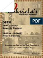 Gabriela's Mexican Grill Menu