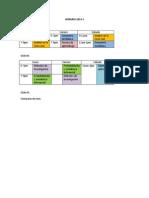 horarios 2014-0 y 2014-1