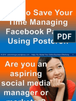 How to Save Your Time Managing Facebook Pages Using Postcron