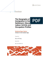 Geography of Immigration in Canada KKing