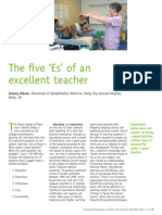 The Five E's of an Excellent Teacher