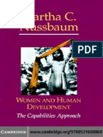 Women and Human Development the Capabilities Approach