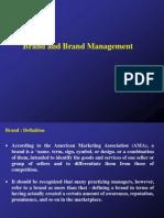 Brand and Brand Management