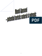 Muntii Apuseni - Potential Turistic Natural Si Antropic
