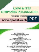 Bangalore BPO List